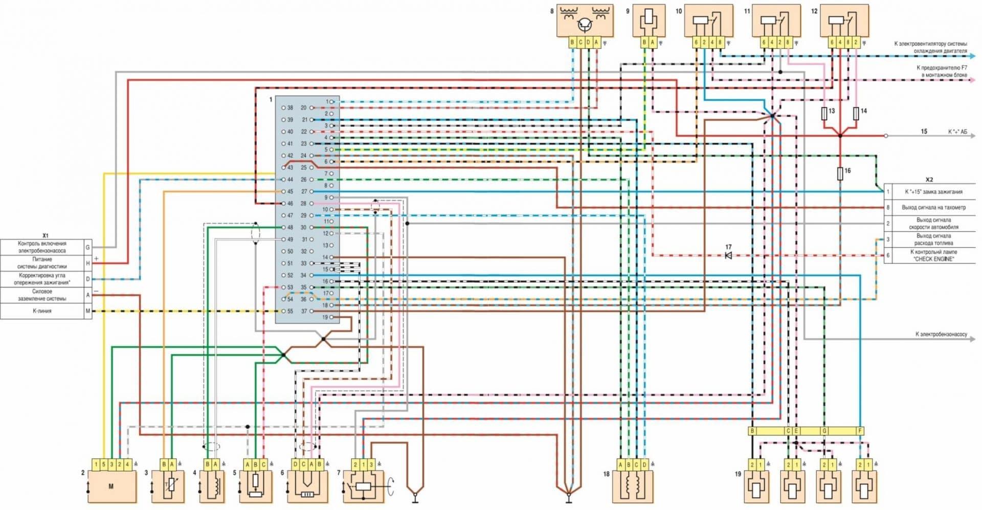 ваз2108 схема электрическая в торпеди