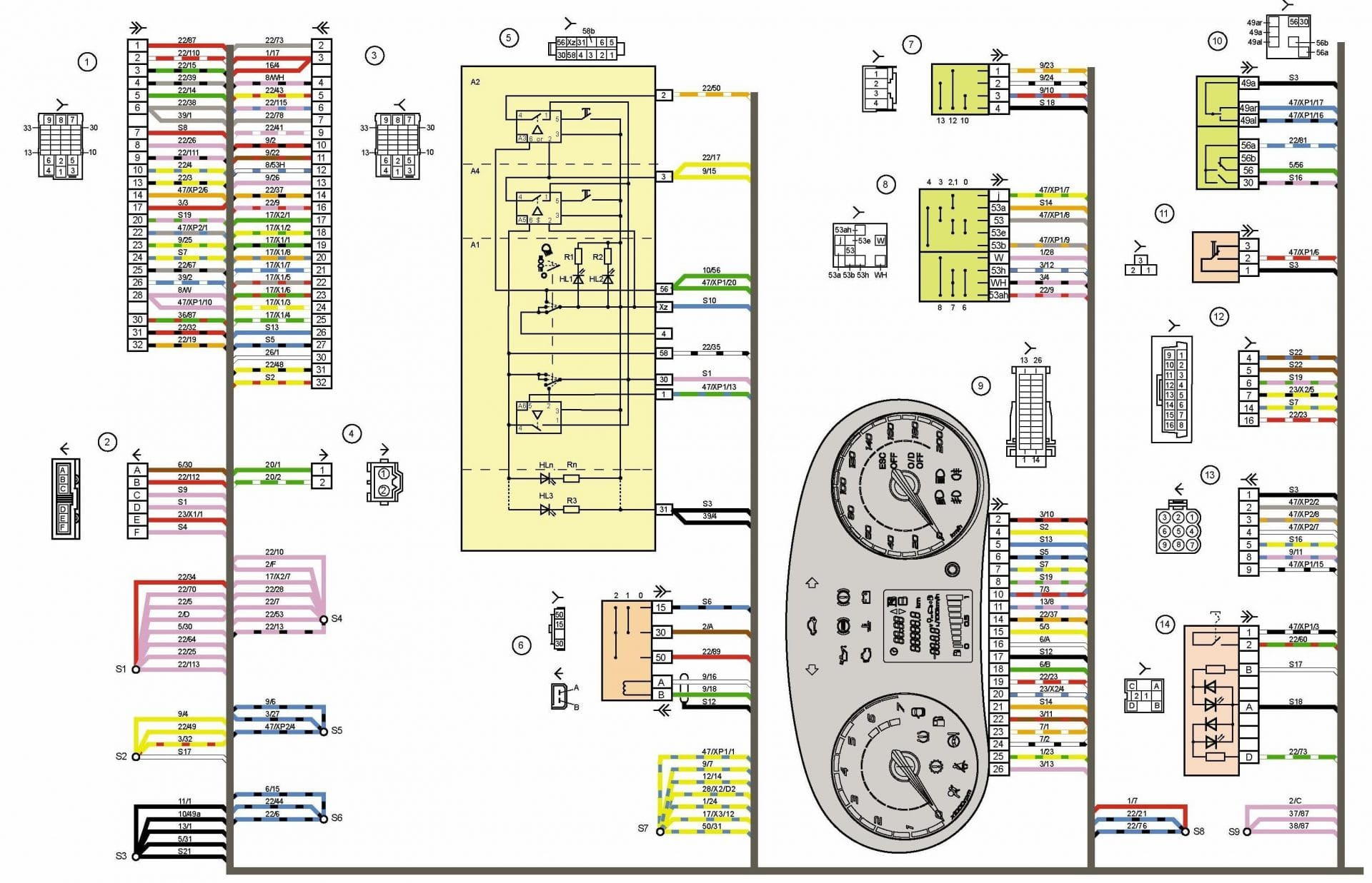 ладакалина предохранители системы управления схема