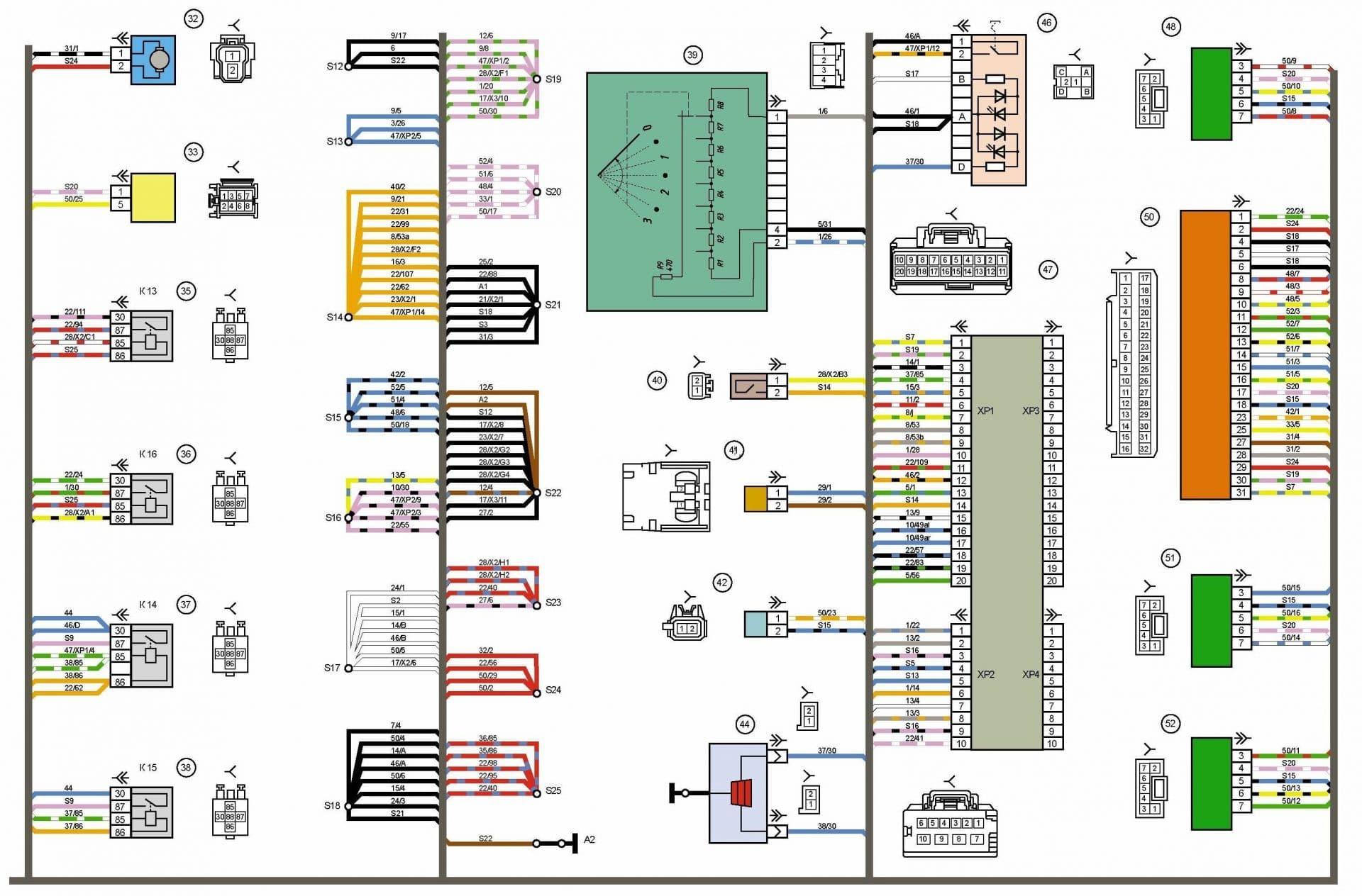 схема электропроводки на лада калина