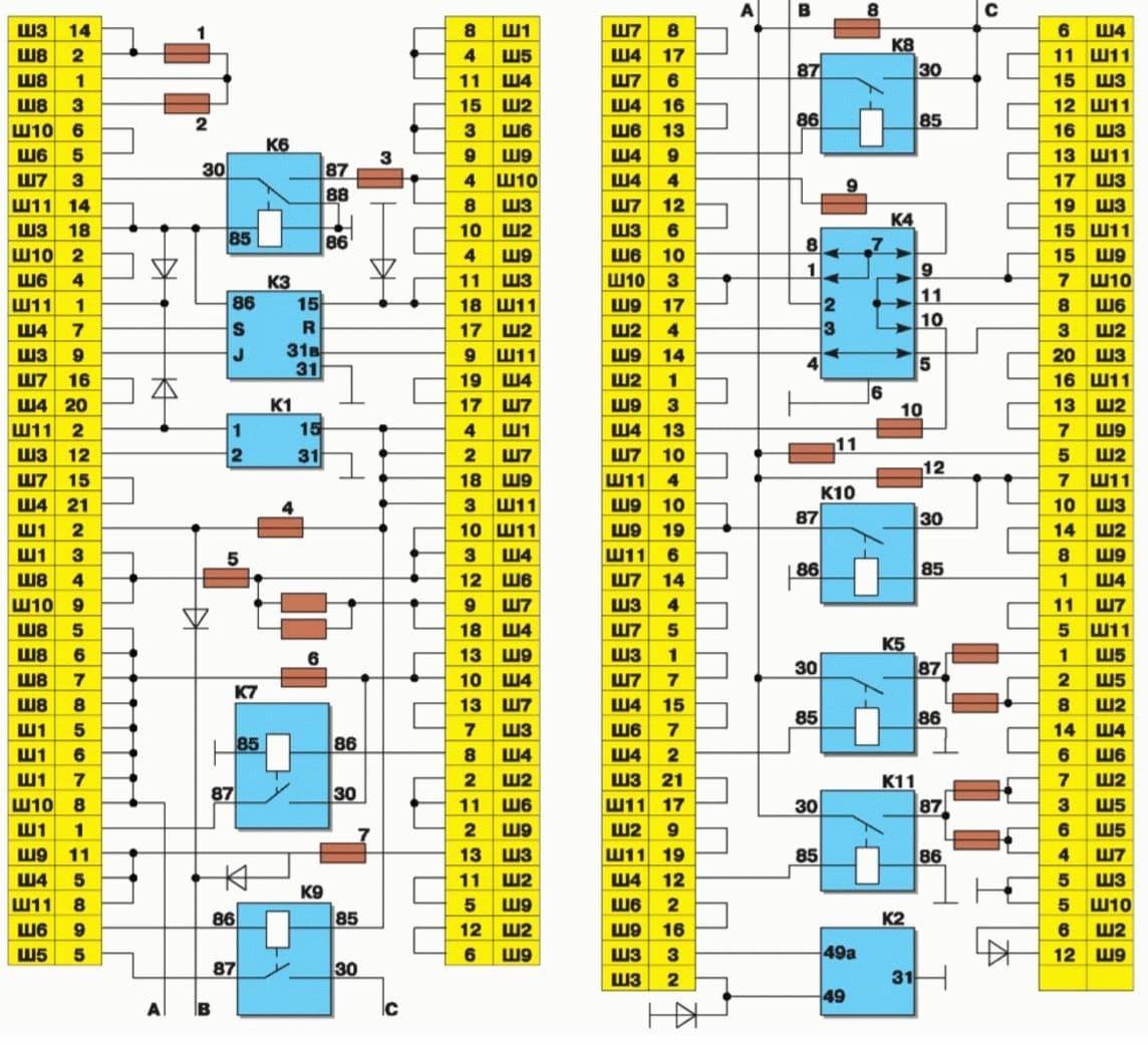 эл.схема ваз 2115 заднего хода отдельно