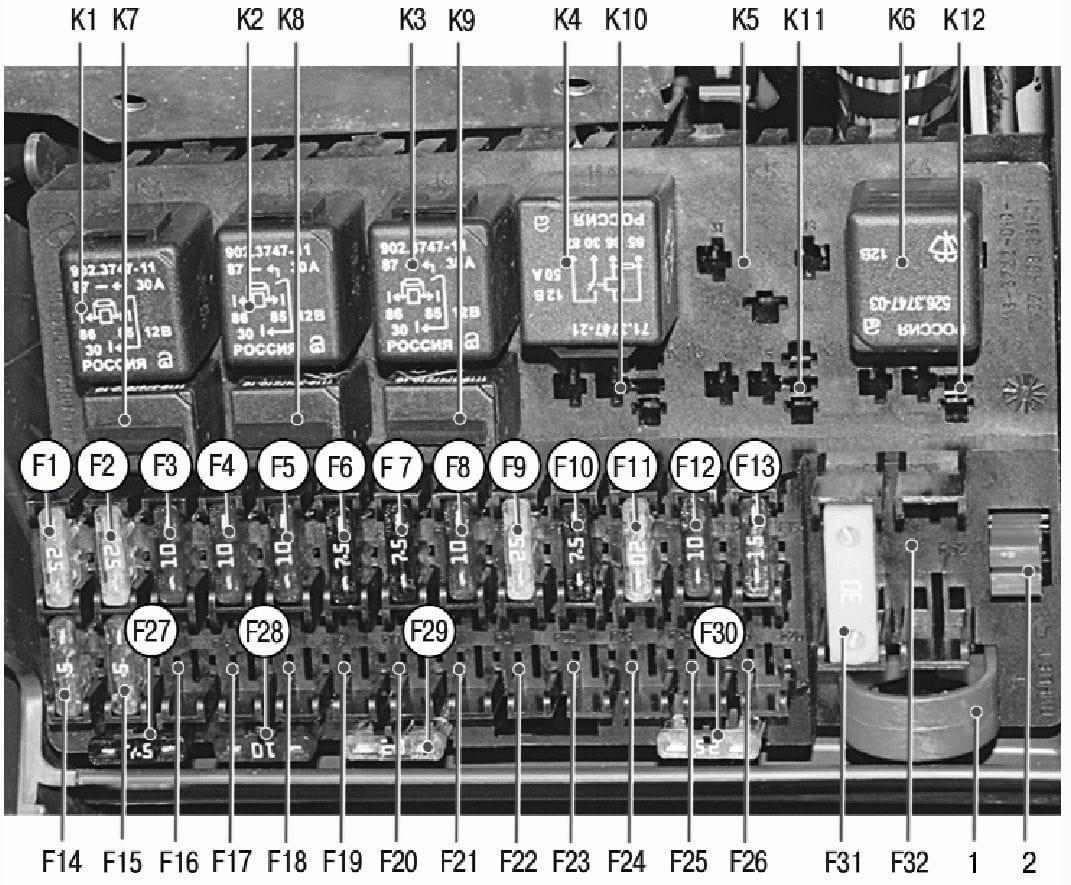 электрическая схема открывания багажника в приоре