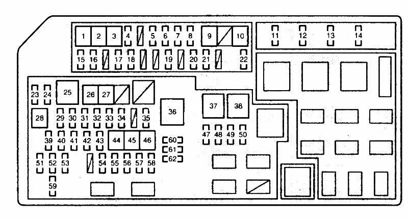 Схема предохранителей land cruiser 150