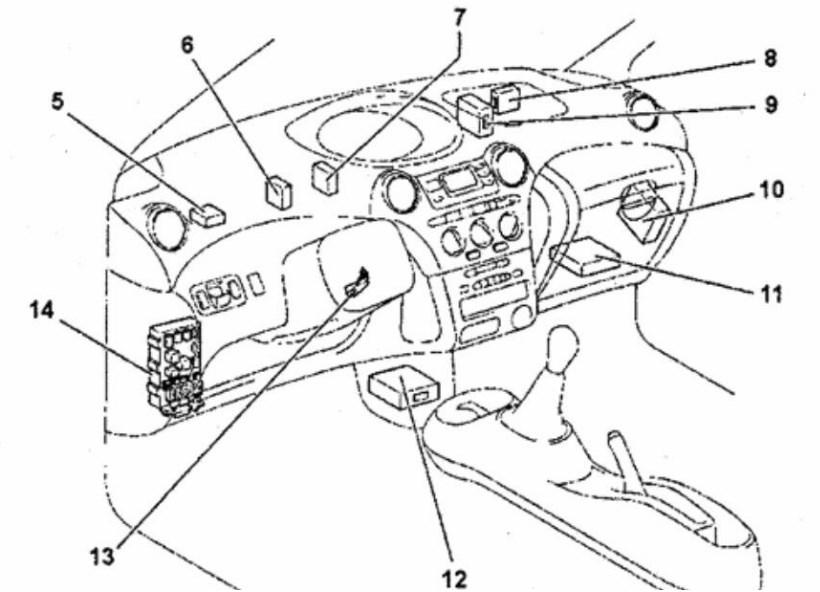 схема Toyota Yaris