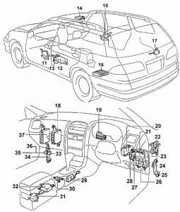 в салоне Toyota Caldina T21
