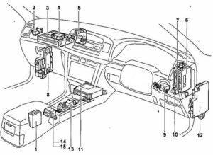 схема Toyota Mark 2 110