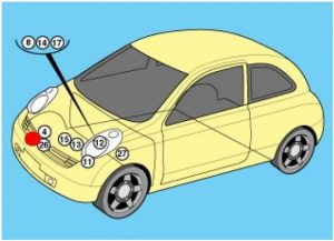 схема Nissan Micra, March K12