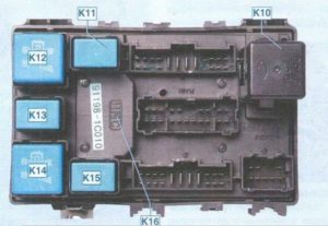 Блок предохранителей Hyundai Getz