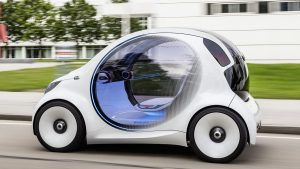 Smart vision EQ fortwo - электрический беспилотник